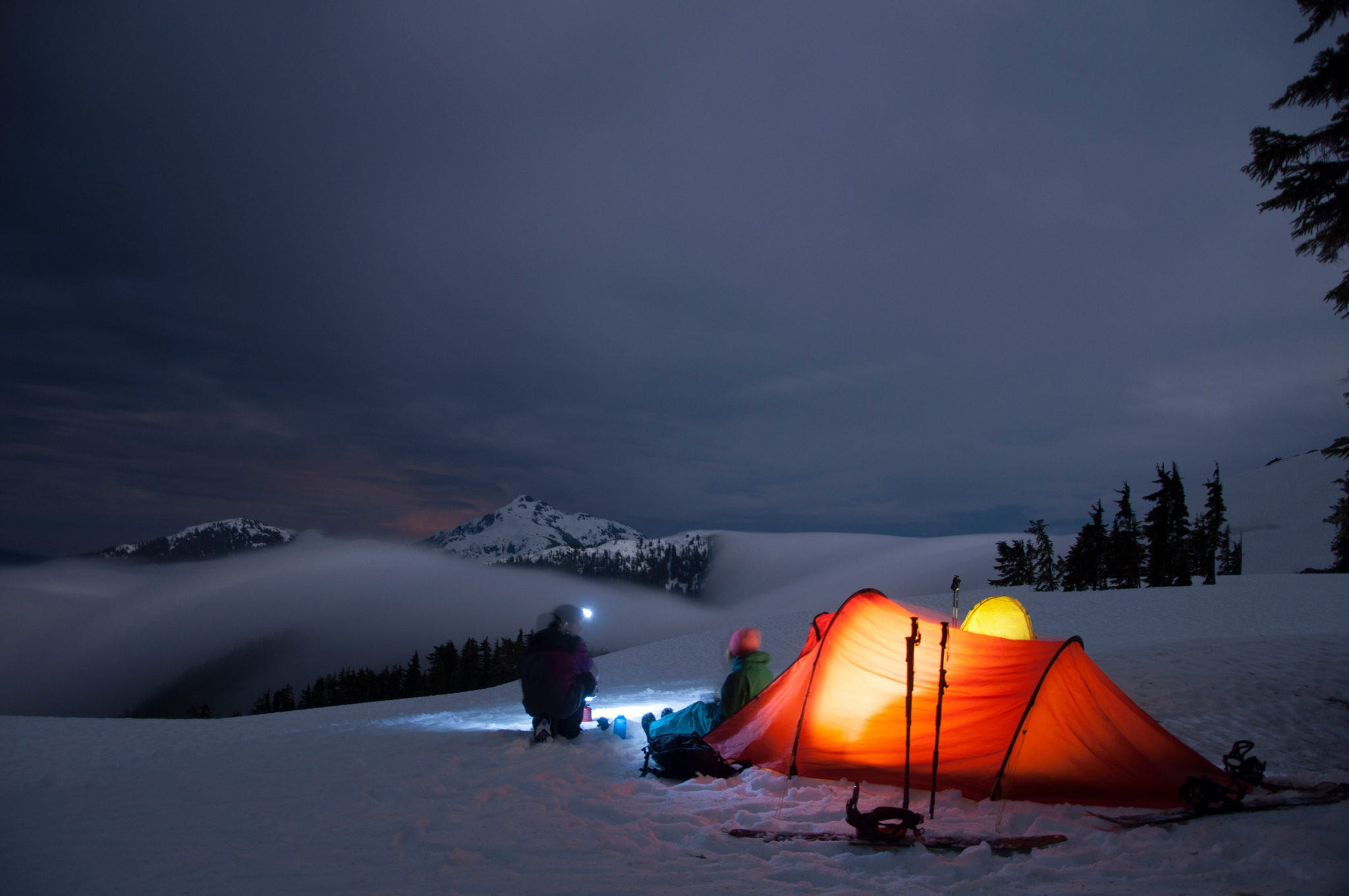 Ski Touring Winter Camping