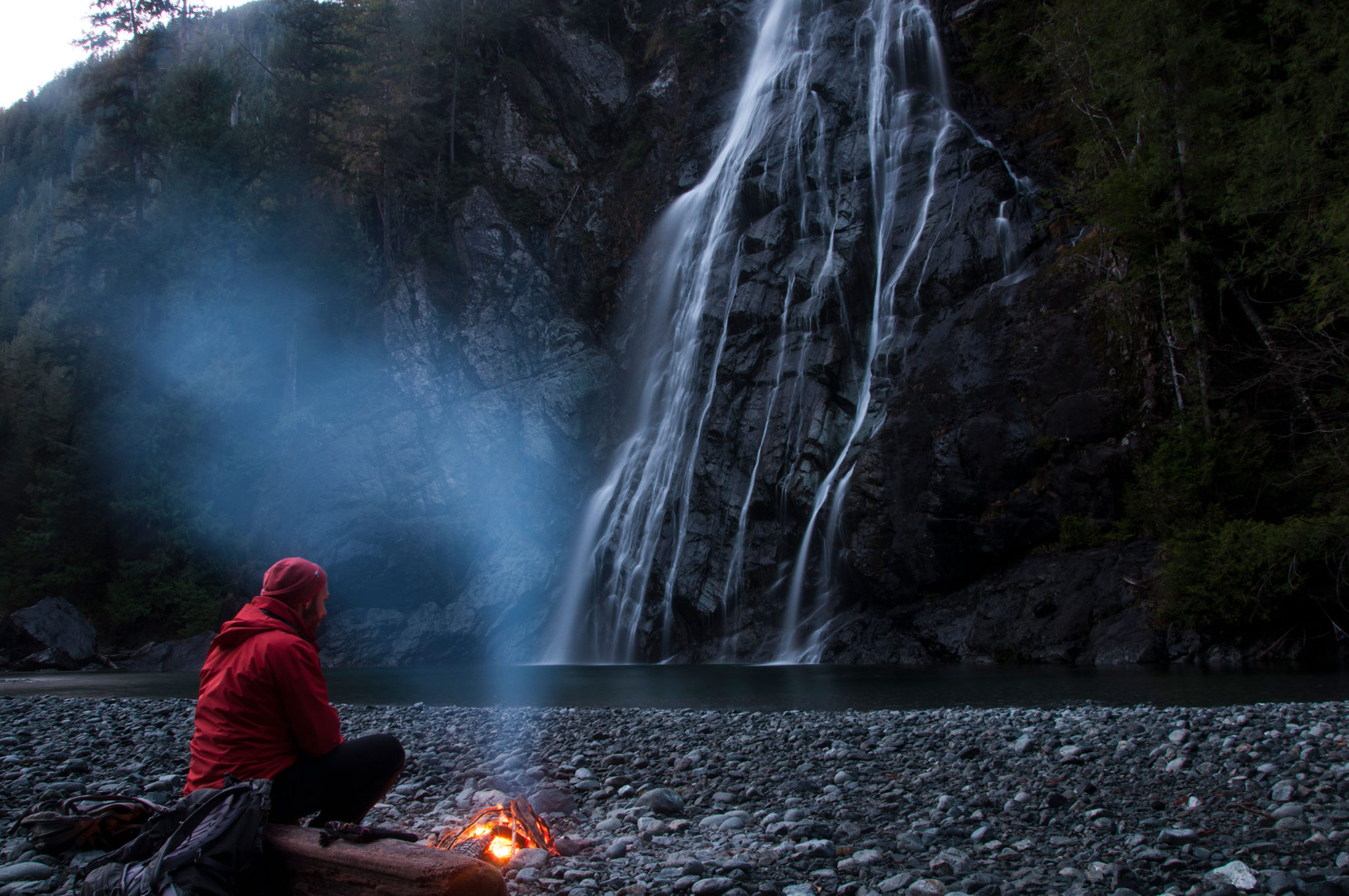Cody And Fire By Virgin Falls