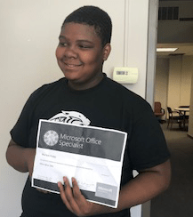 Warrick Fraley, Dohn's First Recipient of Microsoft 2016 Office Certification