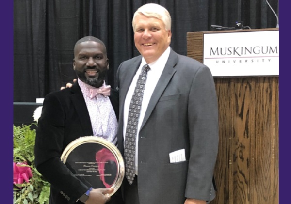 Ramone Davenport, Recipient of Muskingum University Alumni, Distinguished Service Award, 2019