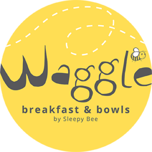 waggle logo, company serves breakfast and bowls