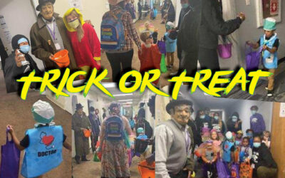 Dohn Students Invite Preschoolers Next Door for Halloween