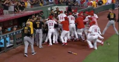 Video: Cincinnati Reds Amir Garrett Tries To Fight The Entire Pittsburgh Pirates Team