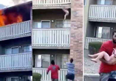 Video: Former College Football Wide Receiver Catches A Baby Thrown From A Burning Building