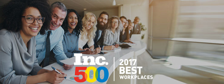 Inc. Magazine's Best Workplaces 2017