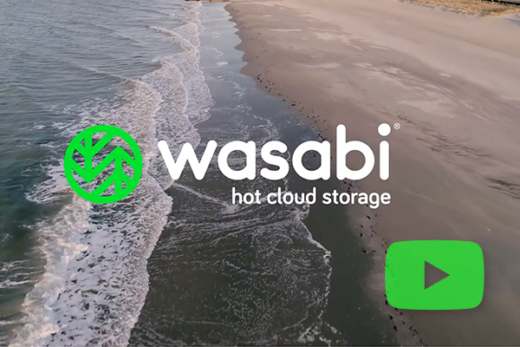 Wasabi hot cloud storage video play icon