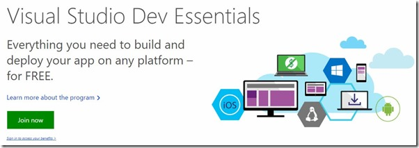 JoinVisualStudioDevEssentials