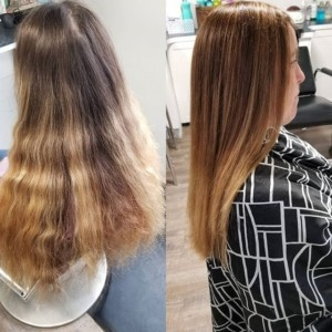 Color correction by @colorbowlchemist . This took 4 hours, 10 oz. of color, 9 oz of lightened, and 7 oz of toner. Both client and stylist are over the moon with the results.