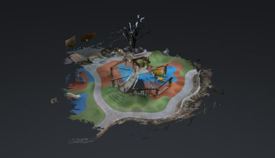 Blowing Rock Playground 3D Model