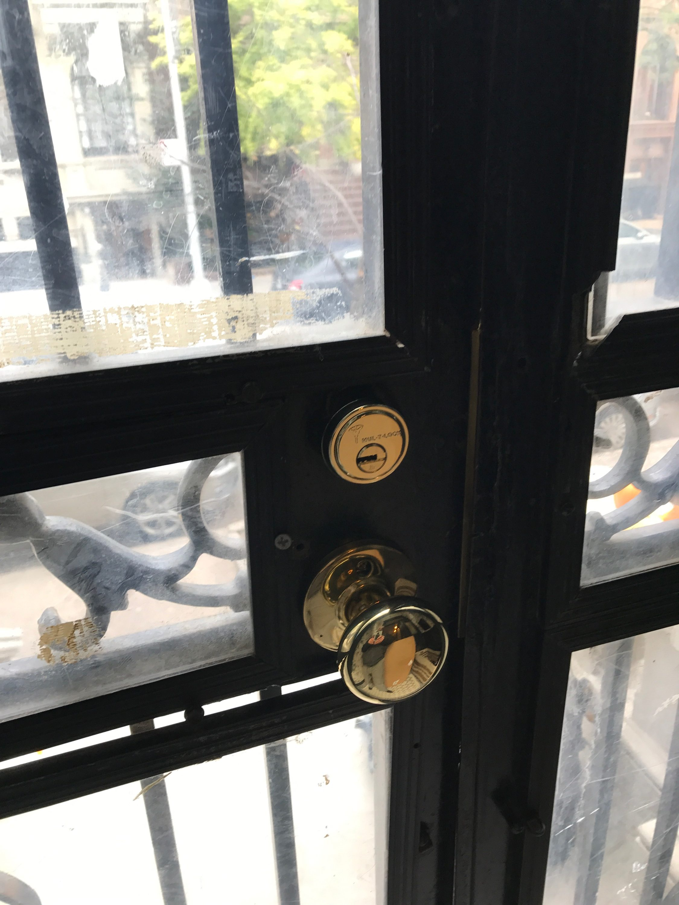 High security gate After frame and locks change