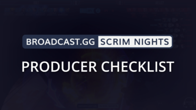 Photo of Producer Checklist for Scrim Nights