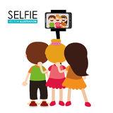 selfie-design-vector-illustration-over-white-background-50182780
