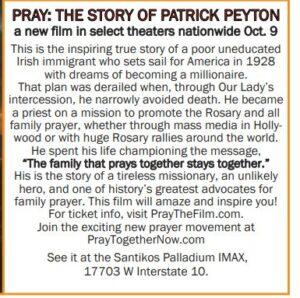 Pray: The Story of Patrick Peyton @ Santikos Palladium IMAX