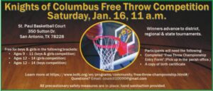 Free Throw Competition @ St. Paul's Basketball Court