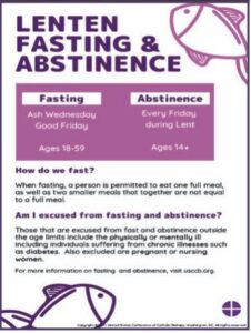 Abstinence during Lent
