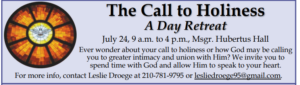 The Call to Holiness A Day Retreat @ Hubertus Hall