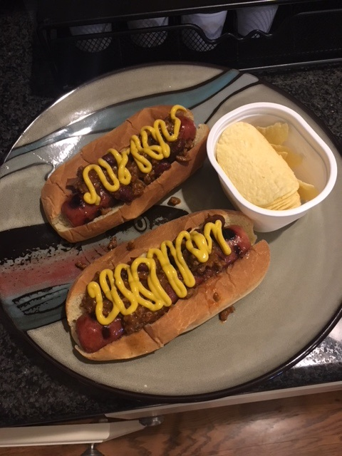 Chili Hot Dogs for Dinner