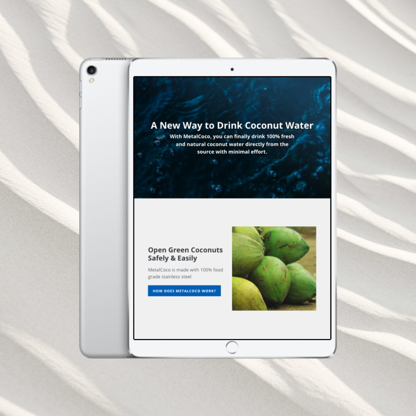 shopify seo and web design ipad screenshot
