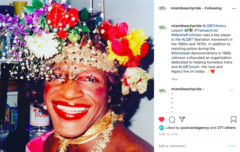marsha p johnson lgbtq pride marketing campaign