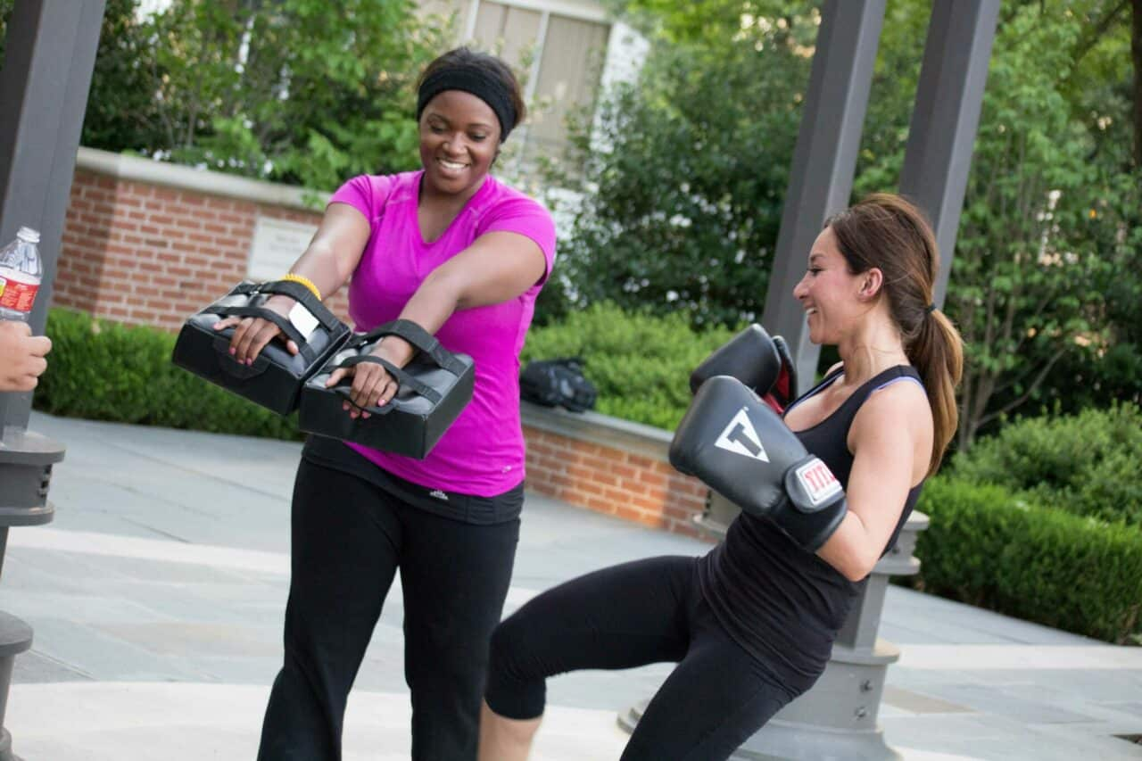 kickboxing, fitness, partner exercises, self defense, nutrition, diet, dallas boot camp