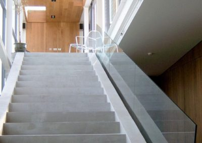 Modern renovation concrete stairs