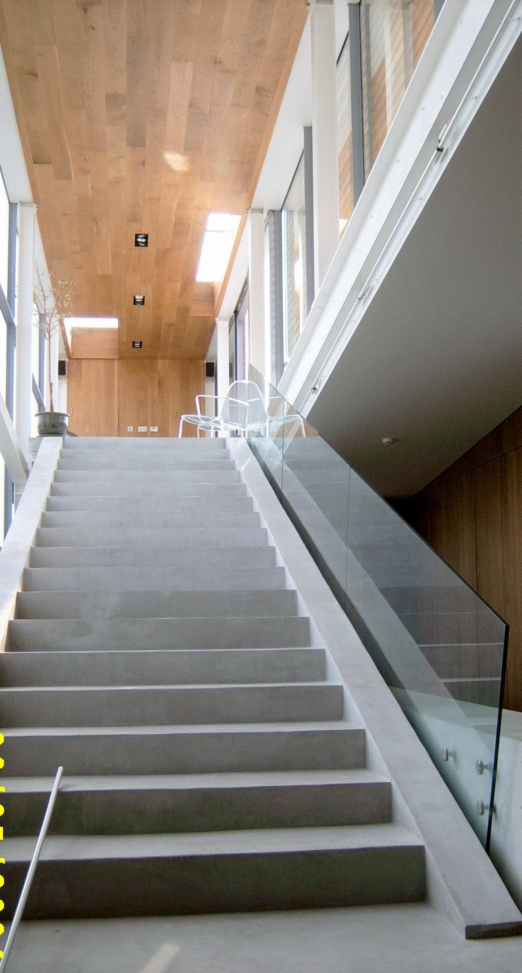 Modern renovation concrete stairs
