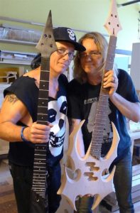 Bill with Jerry Only of The Misfits