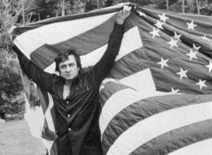 Johnny Cash and the American Flag