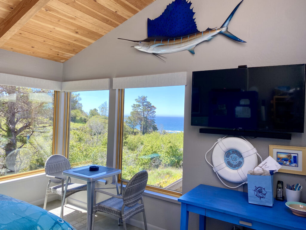 Blue Desk and Sailfish Guesthouse View