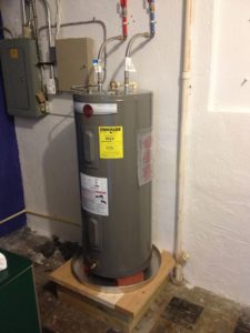 Here is a water heater that I installed in a commercial setting.