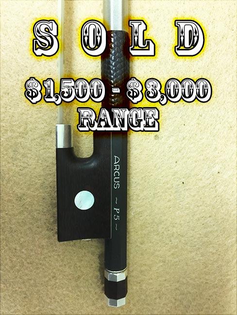 Arcus P5: Viola Bow; SOLD $1,500-3,000