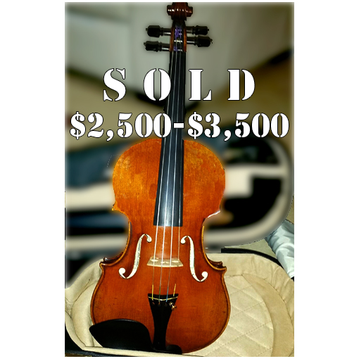 Wilhelm Klier Violin; $2500-$3500 range; SOLD