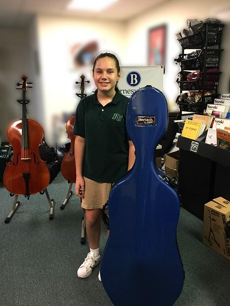 Boca student purchases new cello case at barnesviolins