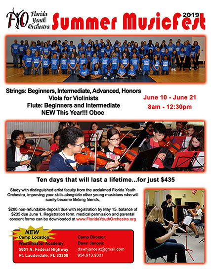Florida Youth Orchestra Summer MusicFest 2019