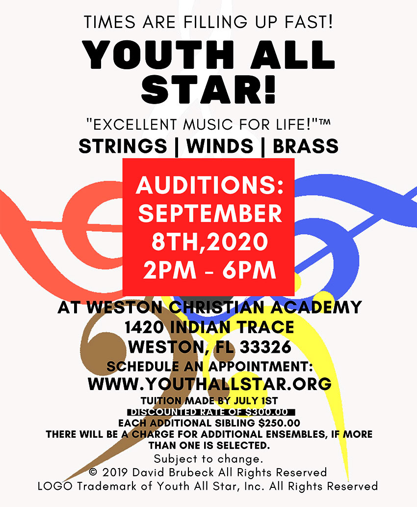 YouthAllStar.org Audition 2020 Info
