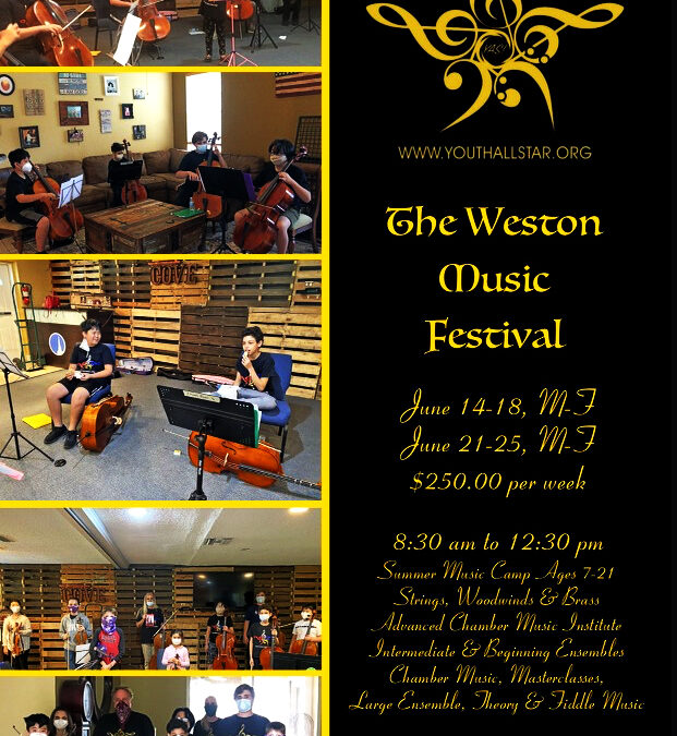 Weston Music flyer – schedule 2021