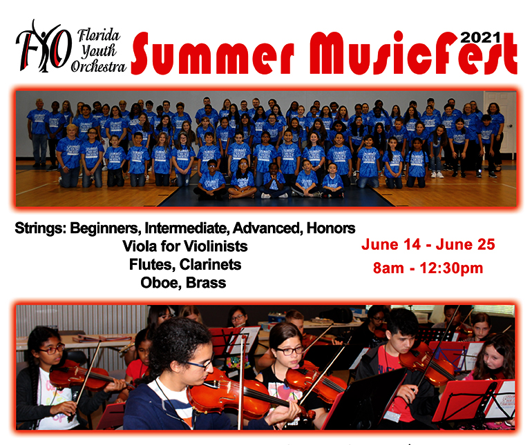 Florida Youth Orchestra-Summer-Music fest-2021