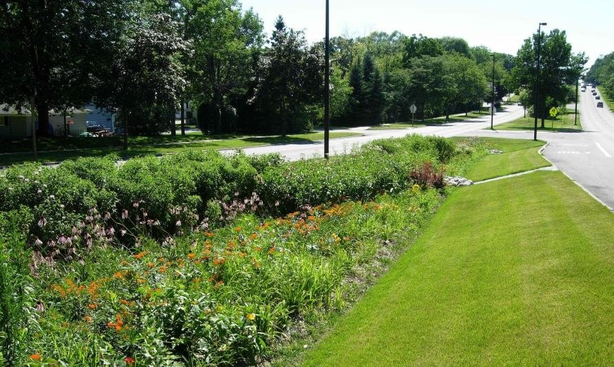 bioswale on easement