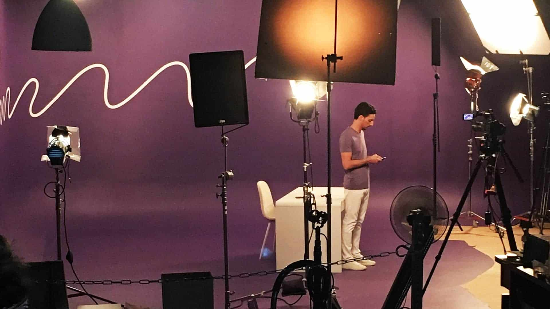 BTS shoot from craftsy on cyclorama