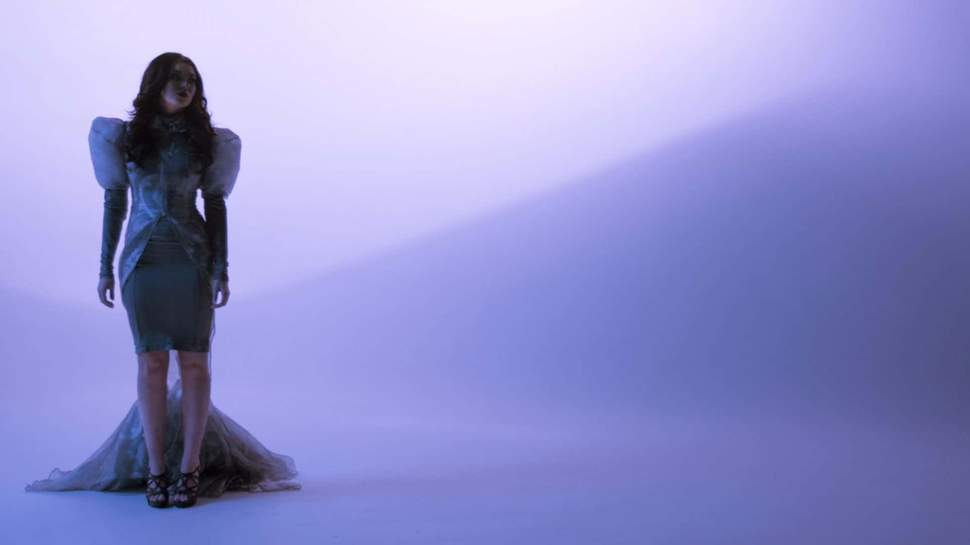 still from music video on cyclorama