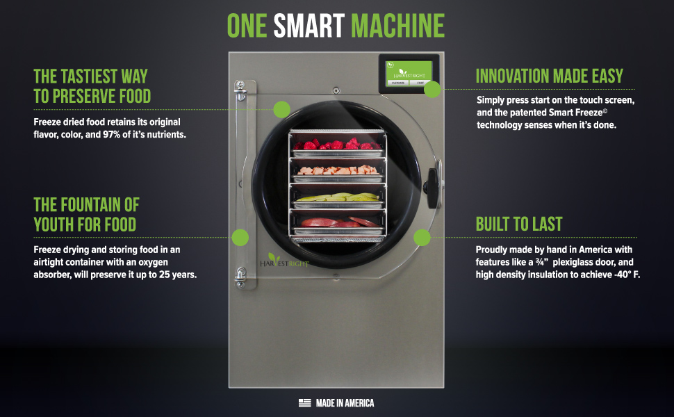 'Freeze Drying' for food preservation for up to 25 years without preservatives or the need for refrigeration.