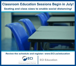 ECI Classroom Education Sessions Begin in July!