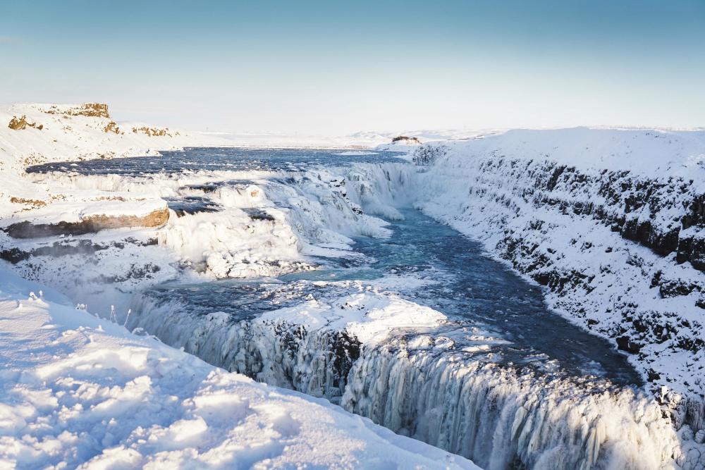 gullfoss falls iceland travel photos