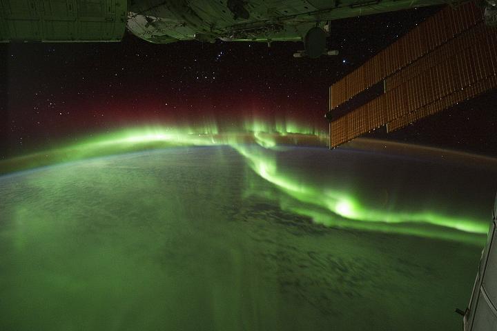 nasa photo over earth southern lights