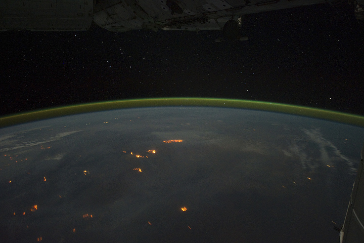 fires in australia from space