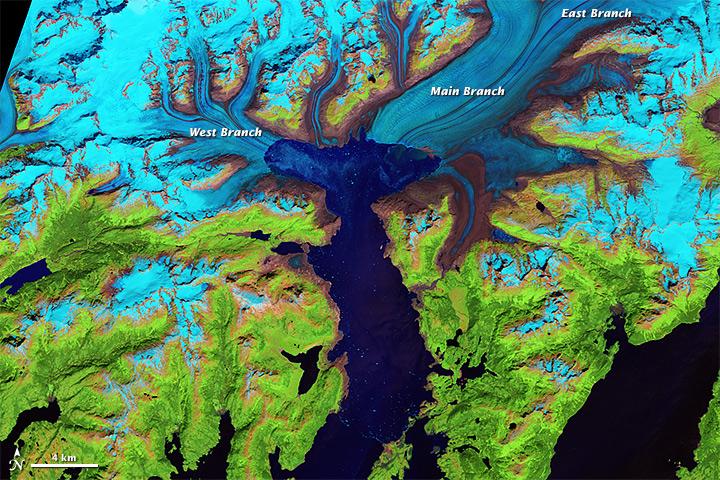 colombia glacier nasa