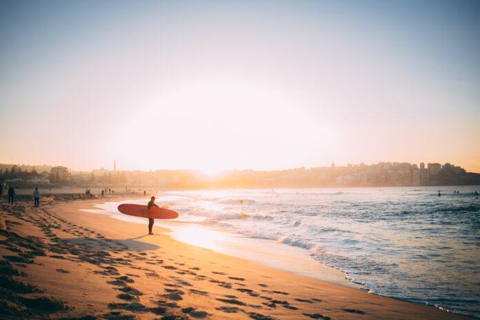 Surfer on Bondi Beach, Australia