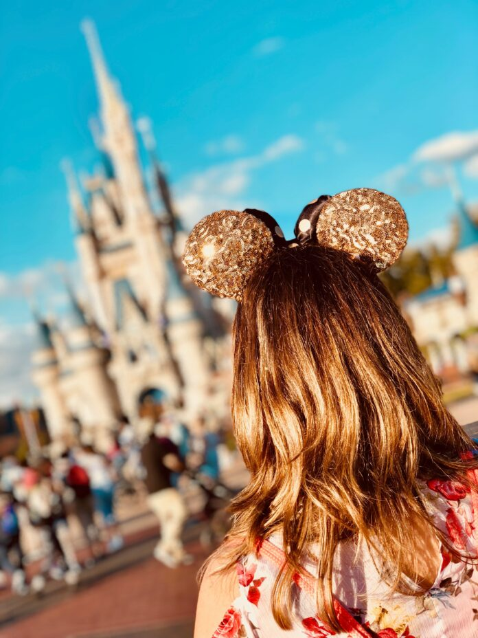 Girl at Disney World