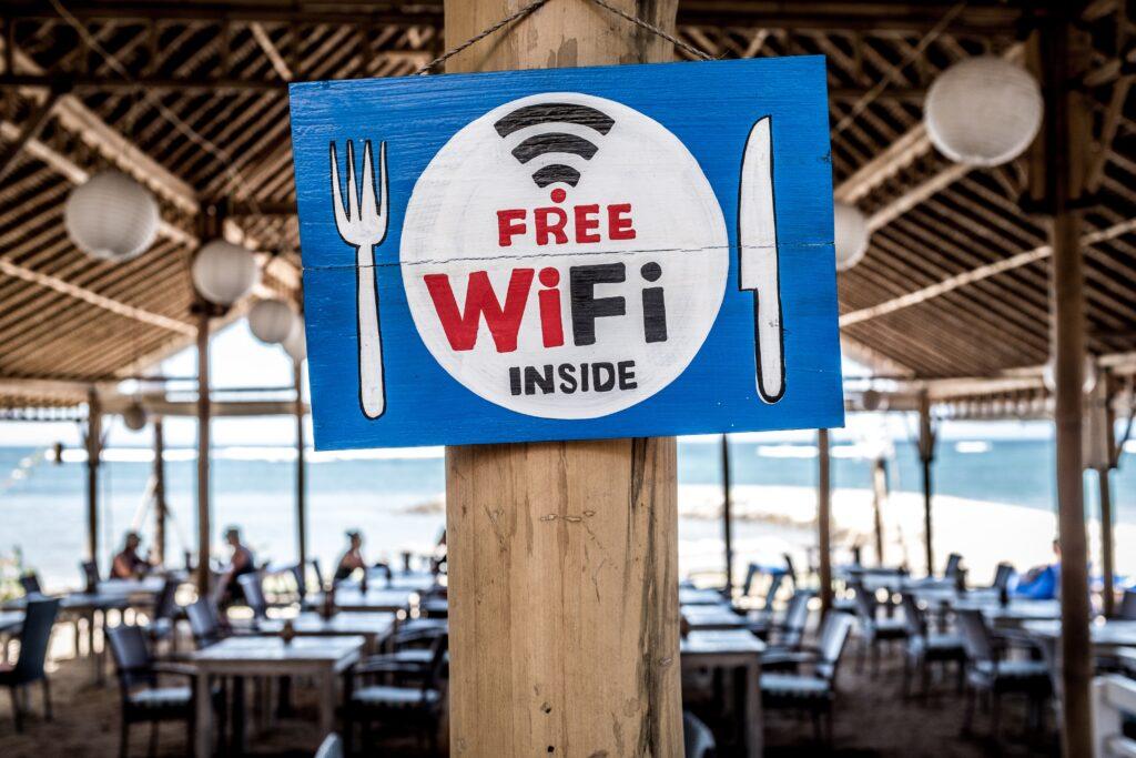 Free WiFi sign in Bali