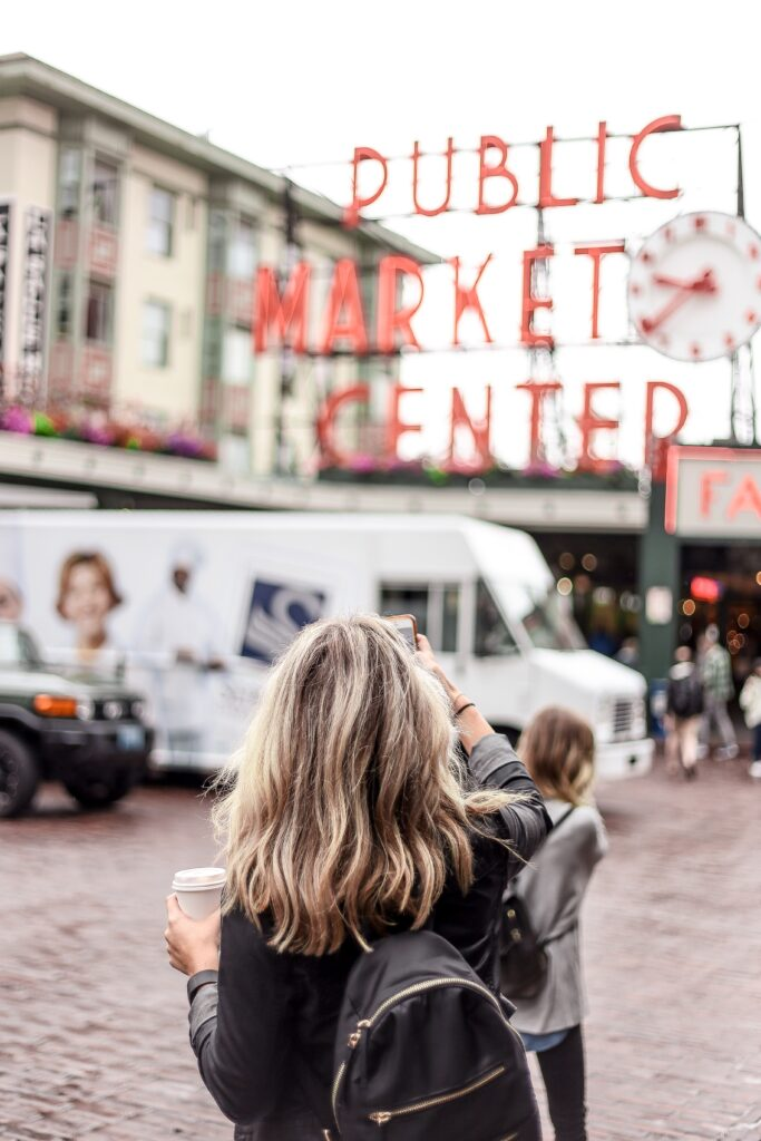 Woman at Public Market Center, Seattle